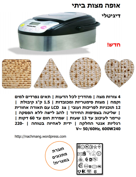 Digital Matzo Maker