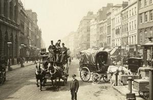 סוסים ומרכבות. לונדון 1890.